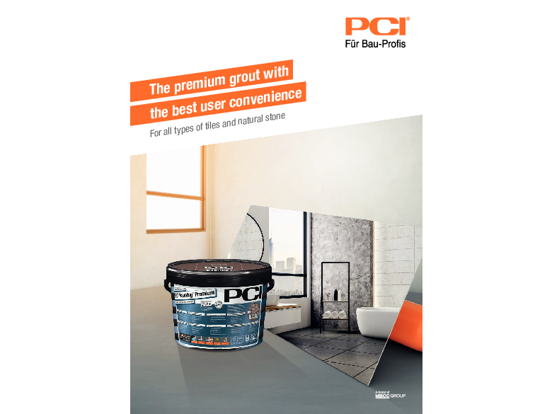 The premium grout with the best user convenience