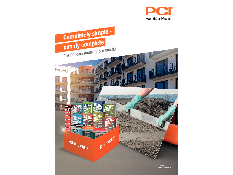 Completely simple - simply complete: The PCI core range for construction