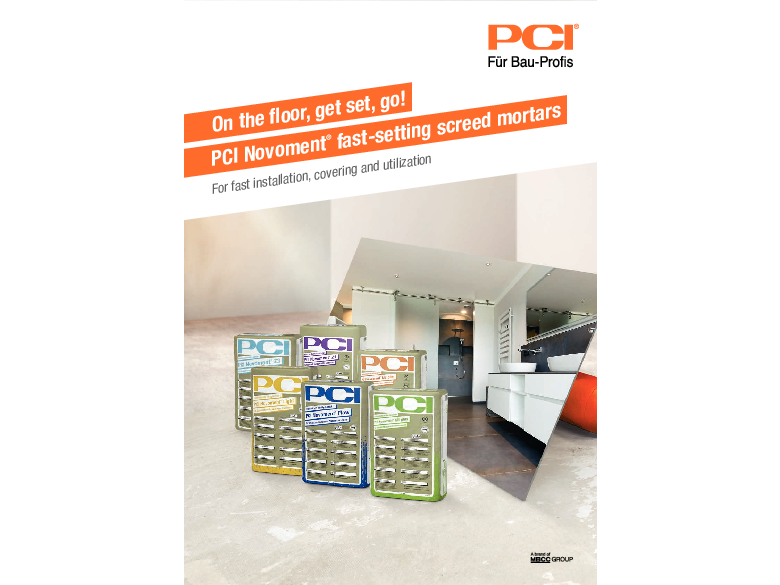 On the floor, get set, go! PCI Novoment fast-setting screed mortars