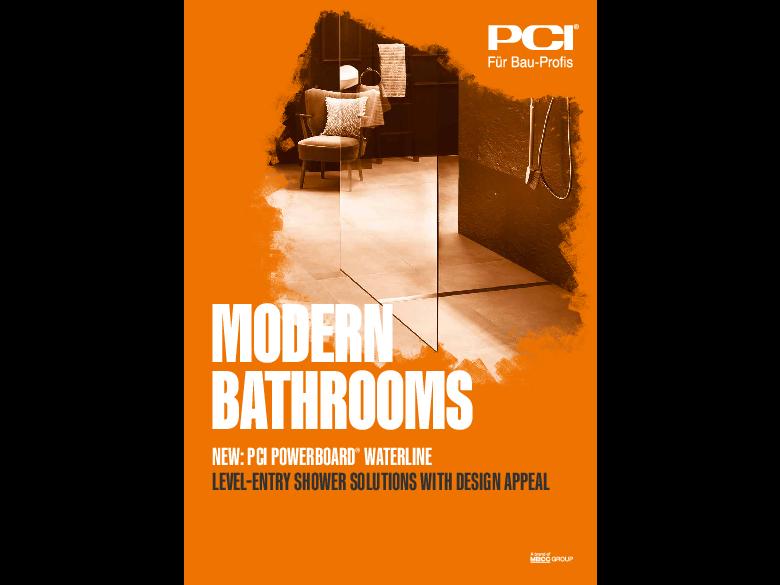 Modern bathrooms: PCI PowerBoard Waterline