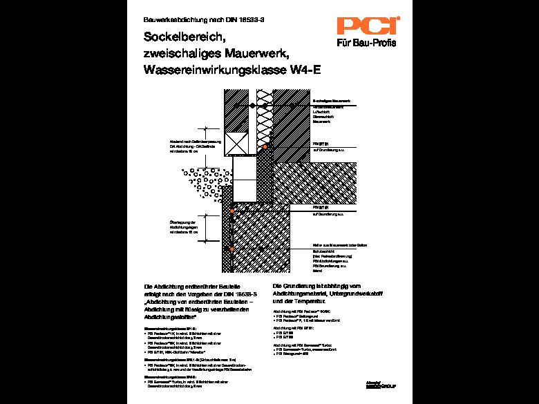 Bauwerksabdichtung Sockelbereich, 2schaliges Mauerwerk, W4-E
