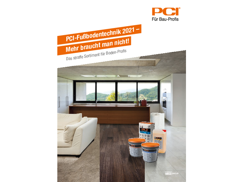 PCI-Fußbodentechnik 2021 – Mehr braucht man nicht!