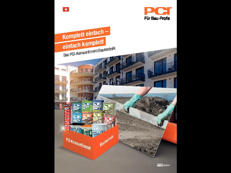 PCI-Kernsortiment Bautechnik - Broschüre