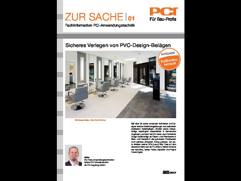 Fußbodentechnik Nr. 01 Sicheres Verlegen von PVC-Design-Belägen
