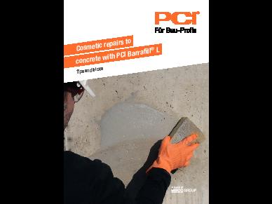 Cosmetic repairs to concrete with PCI Barrafill L